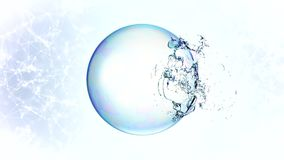 3d soap transparent bubble in the deformation. Stock Photos