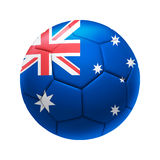 3D soccer ball with Australia team flag. Royalty Free Stock Images