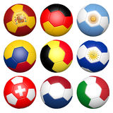 3D soccer ball Stock Photography