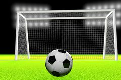 3d soccer ball and goal Stock Image