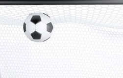 3d Soccer ball in net Stock Image