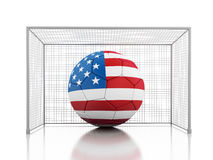 3d Soccer ball with united states flag Stock Image