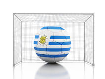 3d Soccer ball with Uruguay flag Royalty Free Stock Image
