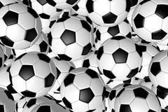 3D soccer balls/ footballs - background Stock Images