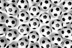 3D soccer balls/ footballs - background Stock Image