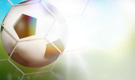 3d soccer football background goal. Graphic illustration background Stock Photo