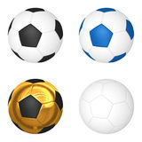 3d soccerball  on white background Stock Images