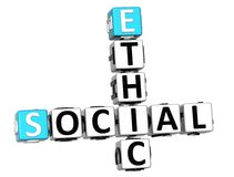 3D Social Ethic Crossword Stock Image