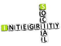 3D Social Integrity Crossword Royalty Free Stock Images