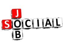3D Social Job Crossword. On white background Stock Image