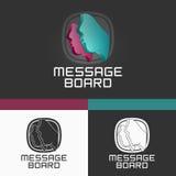 3D Social Logo Template. Diseño moderno del ejemplo del concepto del vector EPS10 Imagenes de archivo