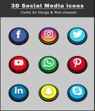 3d social media icons 1 Stock Photo