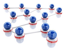 3d social network and communication. Stock Image
