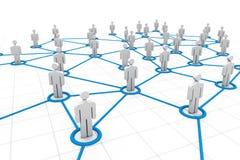 3d social network concept Stock Photography