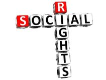 3D Social Rights Crossword cube words. On white background Stock Photography