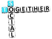 3D Social Together Crossword Royalty Free Stock Image