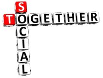 3D Social Together Crossword Royalty Free Stock Photo