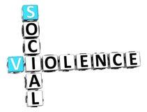 3D Social Violence Crossword. On white background Stock Image