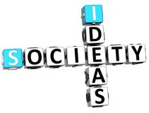 3D Society Ideas Crossword cube words. On white background Stock Image