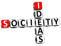 3D Society Ideas Crossword cube words. On white background Royalty Free Stock Image