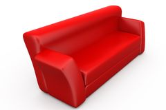 3d sofa concept Royalty Free Stock Photography