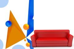 3d sofa illustration Royalty Free Stock Photos