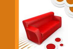 3d sofa illustration Stock Images
