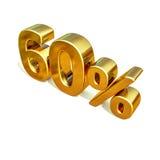 3d or 60 soixante signes de remise de pour cent illustration de vecteur