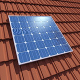 3d Solar cell panel Stock Photos