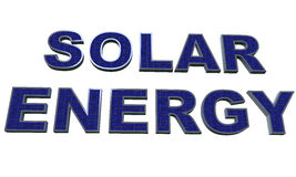 3d solar energy Royalty Free Stock Photography