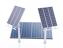 3d solar panel, alternative energy. Royalty Free Stock Images