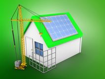 3d solar panel Royalty Free Stock Image
