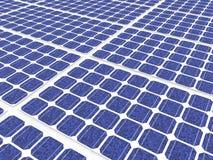 3d solar panels. 3d render of solar panels Stock Images