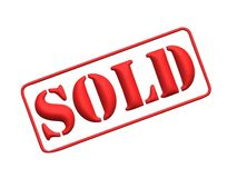 3D sold stamp royalty free stock photos