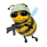 3d Soldier bee. 3d render of a bee dressed as a soldier Royalty Free Stock Photography