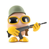 3d Soldier egg Stock Image