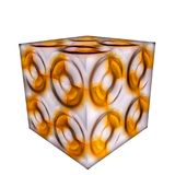 3D patterned cube. 3D solid patterned cube / box Royalty Free Stock Photography