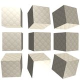 3D patterned cube. 3D solid patterned cube / box Stock Image