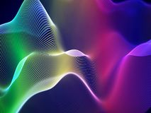 3D solida vågor, visuell ljudsignal utjämnare Stor dataabstrakt begreppvisualization vektor illustrationer