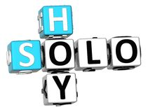3D Solo Hoy Crossword. On white bacground Royalty Free Stock Photo