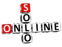 3D Solo Online Crossword Zdjęcie Royalty Free