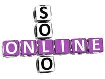 3D Solo Online Crossword Zdjęcia Royalty Free