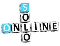 3D Solo Online Crossword Zdjęcie Stock