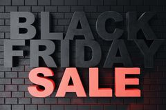 3D som framför Black Friday, försäljningsmeddelandet för, shoppar Hoppa lagerbaner för affär för Black Friday svart friday försäl Royaltyfri Bild