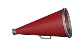 3d som framför den röda megafonen på vit Royaltyfria Foton