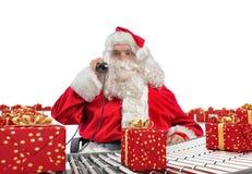 3D som framför den Santa Claus fabriken Fotografering för Bildbyråer
