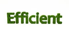 3D som framför EFFEKTIVT ord gjort av grönt gräs vektor illustrationer