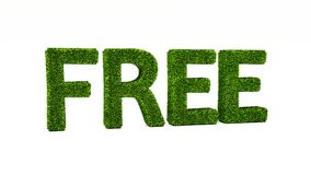 3D som framför FRITT ord gjort av grönt gräs vektor illustrationer