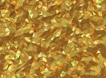 3D som framför härlig skinande guld- triangelgeometri Arkivbilder
