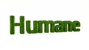 3D som framför HUMANT ord gjort av grönt gräs vektor illustrationer